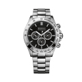Men's Black Chronograph Stainless Steel Watch