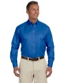 Harriton Easy Blend Long Sleeve Twill Shirt with Stain-Release