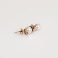 Gold Earrings with Pearls and Diamonds