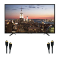 "55"" 4K UltraHD Smart TV with 2 HDMI Cables"