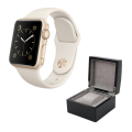 Aluminium Watch with White Sport Band and Watch Box - GOLD