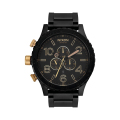 Men's 51-30 Chrono Leather Watch - BLACK/GOLD
