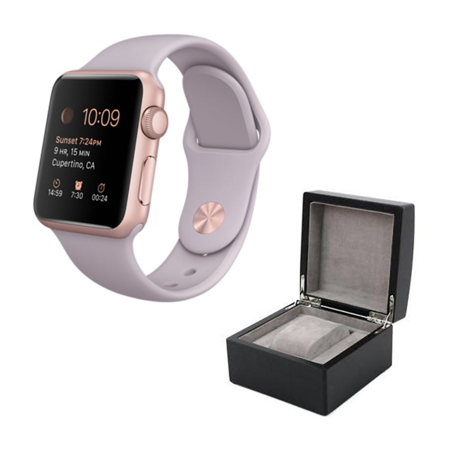 Aluminium Watch With Lavender Sport Band And Watch Box Rose Gold Proforma Si Demo